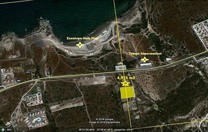 Girne Esentepe de Dağ ve Deniz Manzaralı Arazi