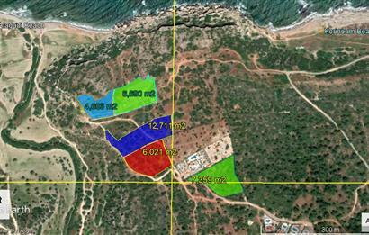 Kıbrıs Girne Dağ ve Deniz Manzaralı Satılık Arazi